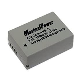 Maximalpower DB CAN NB7L Rechargeable Li-Ion Battery for Canon G10 Digital Cameras