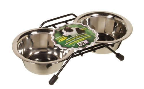 Hagen Catit Stainless Steel Double Cat Diner