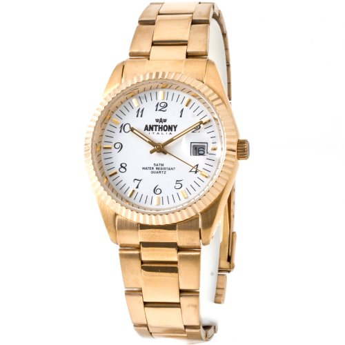 ANTHONY TIME ATM305 BIANCO DATEJUST Orologio da Uomo Men's Watch Reloj Hombre Montre Homme Herrenuhr