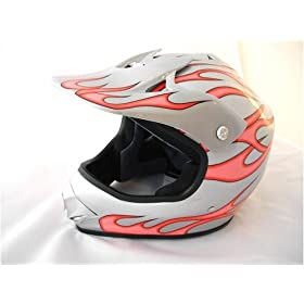 Youth Motocross ATV or Motorcycle Helmet Pink, Small