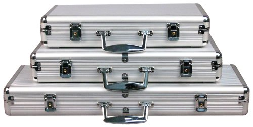 Sale!! Da Vinci Aluminum Poker Chip Case -- Choose from 5 Sizes