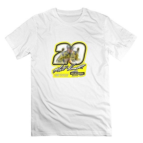 Men Matt Kenseth 20 Poster V-Neck Short Sleeve T Shirt M White (Trini Cars compare prices)