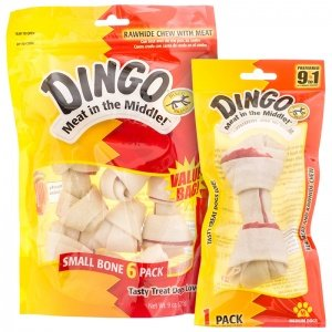 Dingo Rawhide Mini Bones, 35-Count Value Bag image