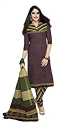 Sree Impex Women's Cotton Unstitched Dress Material (SI-CO-42_Black_Free Size)