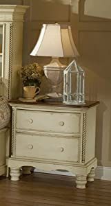 Hillsdale Wilshire Antique White 2-Drawer Nightstand