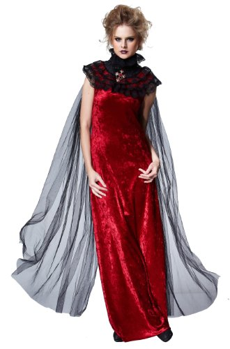 HGM Costume Women's Red Gothic Cape