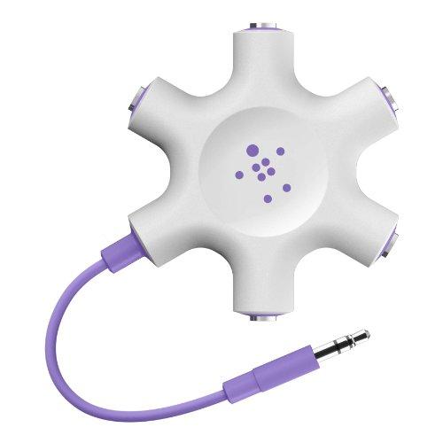 Belkin F8Z274btPUR Splitter Audio Jack pour Smartphone/MP3/Tablette Tactile 3,5 mm Violet