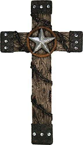 Rivers Edge Products 18-Inch Cross with Star And Barbed Wire