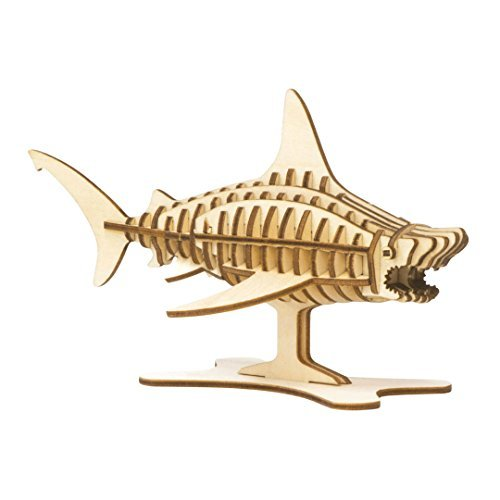 Incredibuilds 3D Wood Puzzle Model Kit Great White Shark (Shark Model Kit compare prices)