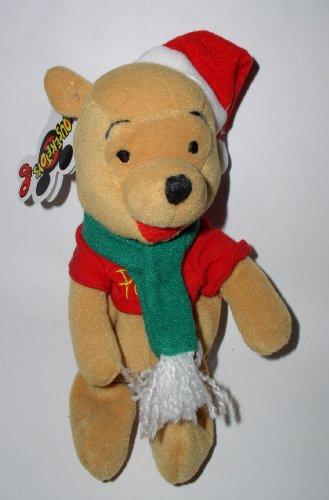 Disney Mousekeytoys Santa Pooh Mini Bean Bag - 1