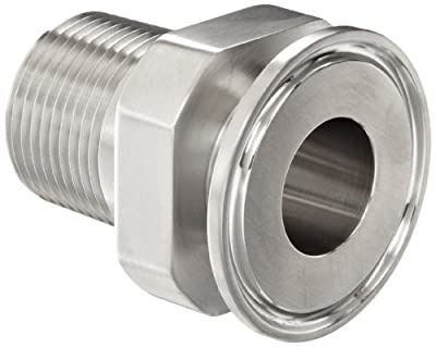 Dixon 21MP-G Series Stainless Steel 304 Sanitary Fitting, Clamp Adapter, Tube OD x NPT Male