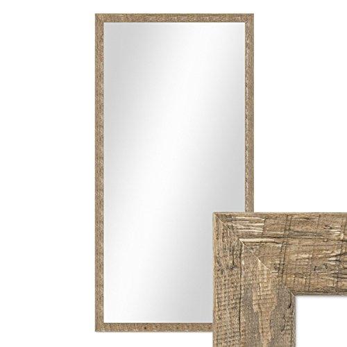 Wand-Spiegel-56x106-cm-im-Holzrahmen-Strandhaus-Stil-Eiche-Optik-Rustikal-Spiegelflche-50x100-cm