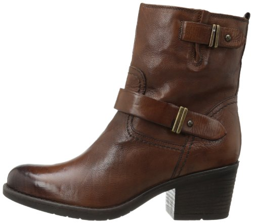 Clarks Women's Mojita Sorbet Bootie,Cognac Leather,6 M US