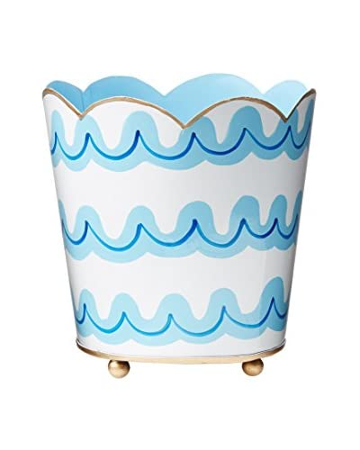 Malabar Bay Jetty Decorative Cachepot, Blue