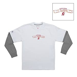 Usc Trojans Ncaa Danger Youth Tee (White) (Small) by Antigua