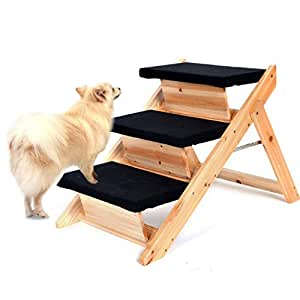 Amazon Dealkoo Pet Folding 2 in 1 Stairs Ramp Non