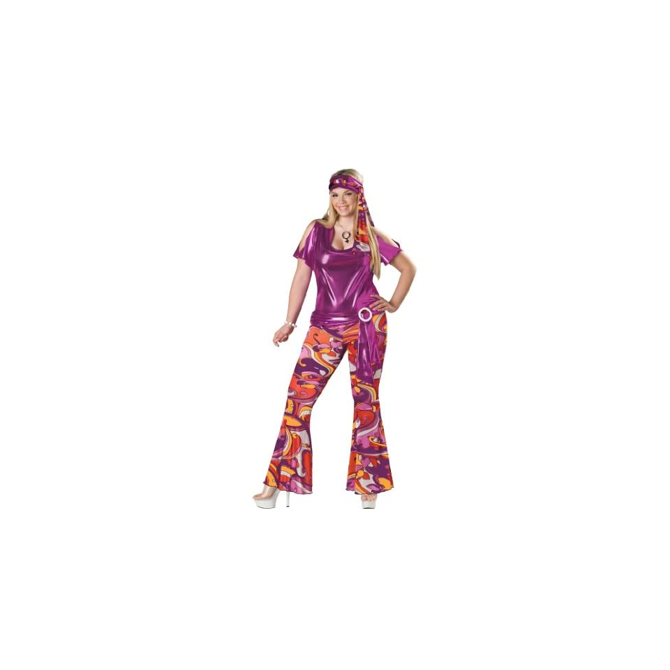 f6da2048c07 In Character New Sexy 60s 70s Disco Mod Halloween Costume Plus Size ...