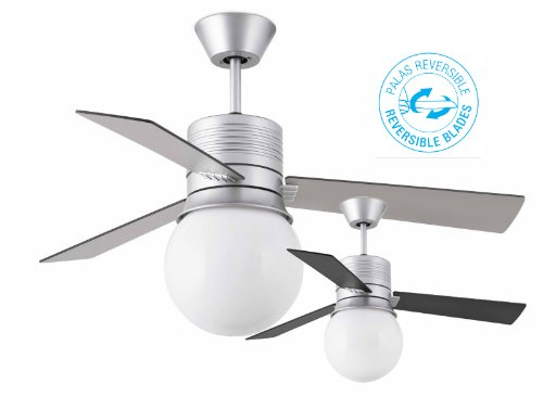 Faro 33371 - PAXOS Ventilatore da sofitto grigio