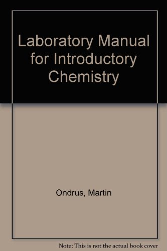 Laboratory Manual to accompany Introductory Chemistry