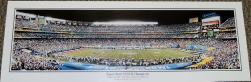 Super Bowl Xxxvii Tampa Bay Buccaneers Vs Oakland Raiders 13.5 X 39 Inch Panoramic Print