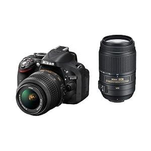 【クリックで詳細表示】Amazon.co.jp|Nikon デジタル一眼レフカメラ D5200 ダブルズームキット AF-S DX NIKKOR 18-55mm f/3.5-5.6G VR/ AF-S DX NIKKOR 55-300mm f/4.5-5.6G ED VR ブラック D5200WZBK|カメラ通販