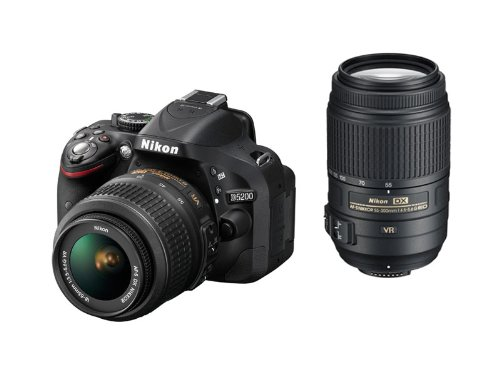 Nikon digital single-lens reflex camera D5200 double zoom kit AF...