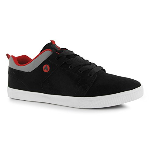 Airwalk Carrington Skate Scarpe Casual da uomo, colore: nero/rosso, Sneakers, Black / Red, (UK11) (EU45)
