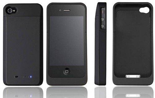 送料無料 EIX PowerSkin for iPhone4 薄型バッテリーケース1700mAh 日本語説明書付き