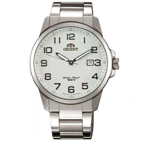 Orient FUNF6003W0 41.5mm Silver Steel Bracelet & Case Mineral Men's Watch