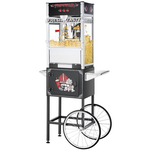 12 oz Great Northern TopStar Black Commercial Quality Popcorn Machine with Cart (Star Popcorn Machine Switch compare prices)