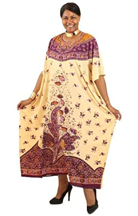 Persian Floral Print Polyester Caftan Kaftan - Available in Black