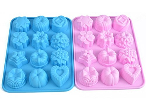 Cake Art Non Stick Sugar Powder : BreaDeep 12-cavity Silicone Flowers Shape Cake Bread Mold ...