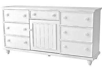 Salem House Country Cottage 7 Dresser Drawer 1 Door, Bright White