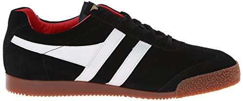 Gola Men's Harrier Fashion Sneaker, Black/White/Red, 45 EU/12 M US
