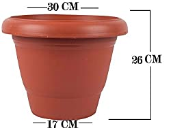 First Smart Deal 12 Inch Planter Pot Pack of 3 - Brown
