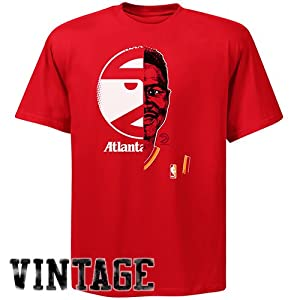NBA Majestic Dominique Wilkins Atlanta Hawks Hardwood Classics Game Face T-Shirt -... by Majestic
