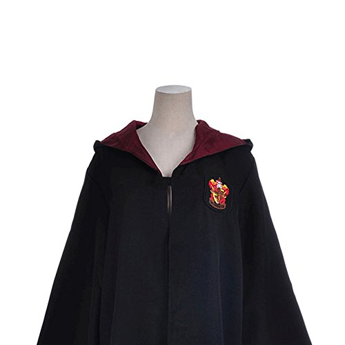 [Yumoom Cloak Harry Potter Christmas Cosplay Costume Hogwarts Deluxe Robe For Adult,MFP01 Red XL] (Hogwarts Robes Gryffindor)