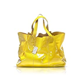 Francesco Biasia Emily - Patent Leather Tote Bag Papaya