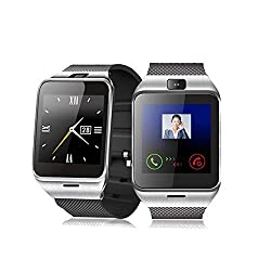 ELEGIANT GV18 Smart Bluetooth 3.0 NFC Watch Phone Camera TF Card Wristwatch for Smartphones IOS (Partial functions) iphone 5/5S/6 Android (Full functions) Samsung S3/S4/S5/S6/S6 Edge Note 2/3/4/edge HTC M8/M9 Sony (Black)