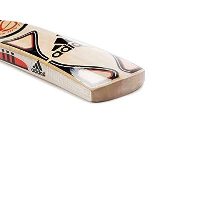adidas Master Blaster Rookie Kashmir Willow Cricket Bat, Short Handle (Poppy/Black/Silver)