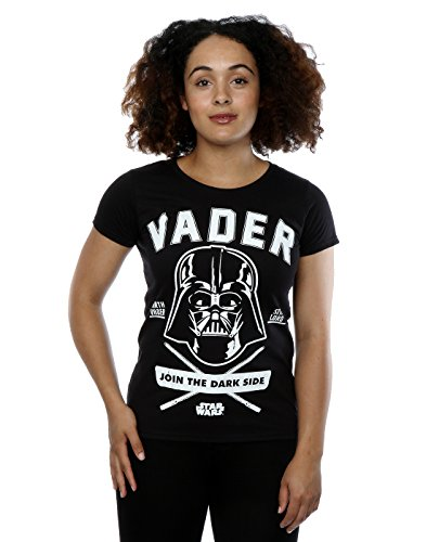 Star-Wars-mujer-Darth-Vader-Collegiate-Camiseta