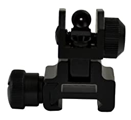 SNIPER® Flip-up Tactical Rear Sight Aircraft Aluminum Two Aperture