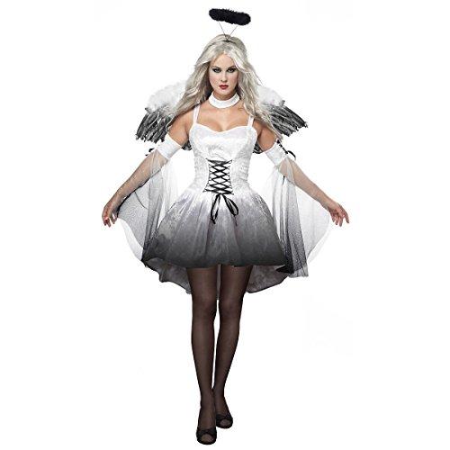 [GSG Angel Of Darkness Costume Adult Halloween Fancy Dress] (Countess Of Darkness Child Halloween Costume)