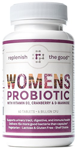 Womens-Probiotic-60ct-6-Billion-CFU-with-Cranberry-D-Mannose-Vitamin-D3-Best-Probiotics-for-Women-Delivers-15X-More-Good-Bacteria-Yeast-Urinary-Tract-Infection-UTI-Treatment-30-Day-Supply