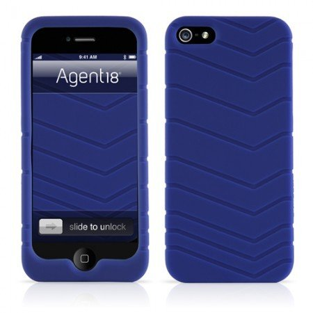 Agent18 P5Vlc/D Velocity Rugged Silicon Skin Case For Iphone 5 5S - Blue