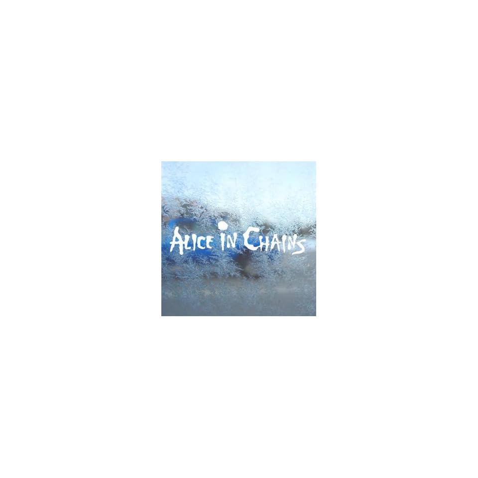 Alice In Chains White Decal Car Laptop Window Vinyl White Sticker