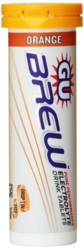 GU ENERGY  Labs Brew Tablets, Orange Box, 57.6g, (Pack of 10)