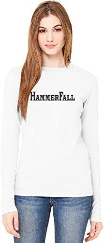 HammerFall Logo T-Shirt da Donna a Maniche Lunghe Long-Sleeve T-shirt For Women| 100% Premium Cotton Ultimate Comfort Medium