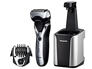 Panasonic Arc3 Electric Razor, Men's 3-Blade Cordless with Wet/Dry Convenience, Premium Automatic Clean & Charge Station Included, ES-RT97-S