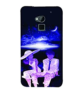 PrintVisa Romantic Love Romantic Couple 3D Hard Polycarbonate Designer Back Case Cover for HTC One Max